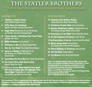 CD Back - Song Listing